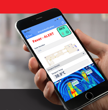 IDCS on a mobile device with high temperature alert